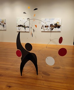 E-Motion: Stabiles and mobiles by Julie Frith and paintings by Kathryn Stotler at Morris Graves.