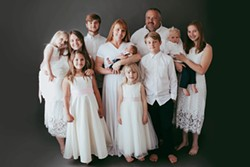 SUBMITTED - Jonathan and Sarah Weltsch and their nine children.