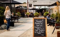 RYAN MCGAUGHEY - The spacious patio.