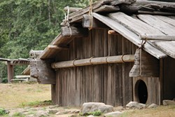 PHOTO BY NICOLE PETERS, YUROK TRIBE - 'Oohl 'we-'o'l-Yurok House at Sue-meg Village.