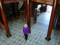 FILE. - Sally Arnot in the rotunda of the Morris Graves Museum of Art