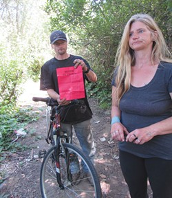 Steve Tyson and Terrie Smith, two greenbelt residents who have been told to leave the marsh.