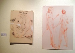 "PHOTO BY GABRIELLE GOPINATH - ""UntitleD"" and ""Diana and Actaeon"" by Dean Smith."