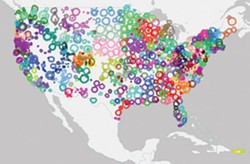 WWW.PUBLICRADIOMAP.COM - A map of public radio throughout the United States.