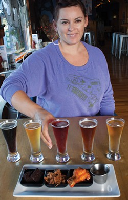 PHOTO BY CARRIE PEYTON DAHLBERG - Meredith Maier of 6 Rivers Brewery loves the way food pairings can help people enjoy beer styles they might not have appreciated before.