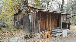 THE ARCATA POLICE DEPARTMENT - Dean, 18, was living in this small cabin on his grandmother's property in Hoopa, where officers reported finding bloody clothes and other evidence linking him to Pennucci's killing.