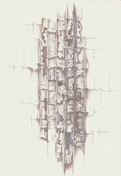 """COURTESY OF THE ARTIST. - The glowing, silvery lines of Jeannine Cook's """"Ligneous Connections."""""""