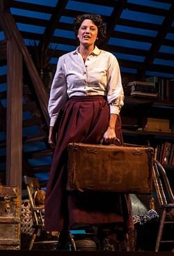 COURTESY OF FERNDALE REPERTORY THEATRE - Hey, Jo. Kuzelka sings it out as Alcott's heroine.