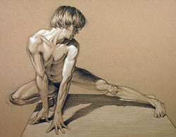 COURTESY OF THE ARTIST - An untitled figure drawing by Brent Eviston included in next month's exhibition.
