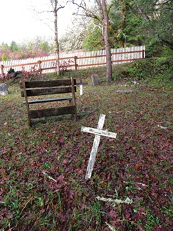 PHOTO BY LINDA STANSBERRY - The Bridgeville Cemetery, established 1861, where some graves have been restored and others lost to time.