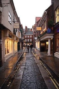 RICHARD CROFT/CREATIVE COMMONS LICENSE - Grape Lane, formerly Gropecunt Lane, in the heart of York in northern England, was the city's center of prostitution in the Middle Ages.