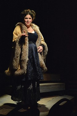 PHOTO BY GRETA TURNEY - Sarah McKinney having a diva moment as Lucy.
