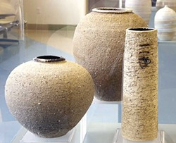 PHOTO COURTESY OF THE ARTIST - Peggy Loudon, pottery at the California Redwood Coast Airport.
