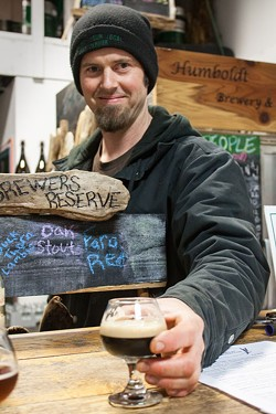 "PHOTO BY CARRIE PEYTON DAHLBERG - Jacob Pressey created his ""Black Grut Bier"" from local mushrooms, barley and honey — but no hops."