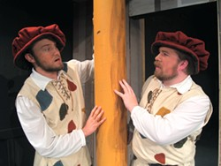 Cameron Griffis as Dromio of Ephesus, Lucas Hylton as Dromio of Syracuse
