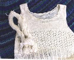 Paula Flannery vest and yarn.