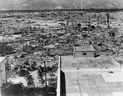 PUBLIC DOMAIN - Hiroshima, Japan, 1945, after its destruction by the first of only two atomic bombs used in warfare.