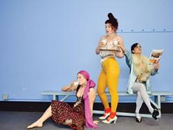 PHOTO BY ROBI ARCE - Grace Booth, Tone Haldrup Lorenzen and Vida Tayebati in Happyland.