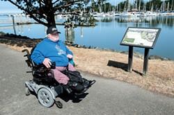 PHOTO BY MARK MCKENNA - Charlie Bean enjoys a trip to Eureka's waterfront.