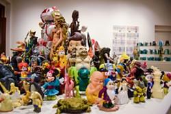 JENNIFER FUMIKO CAHILL - Bob Doran's gathering of figurines.