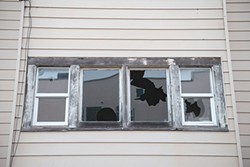 PHOTO BY MARK MCKENNA - Broken windows seem to be a pervasive problem at many of Floyd and Betty Squires' Eureka properties, 26 of which have been the subject of a years-long legal fight with the city of Eureka.