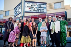 TERRENCE MCNALLY - Cast and crew in front of Eureka Theatre