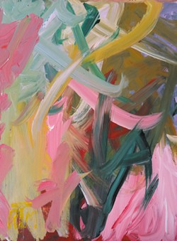 Abstract paintings by Reuben T. Mayes at Stokes, Hamer, Kirk & Eads, LLP.