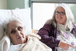 PHOTO BY MARK MCKENNA - Joan Poe, a resident at Eureka Rehabilitation and Wellness Center, with her daughter, Jolon Wilson.