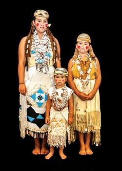 """Shawgeylut """"Sis"""" Coney (left), Alison Osceola (right) and Vivian McCovey (center)."""