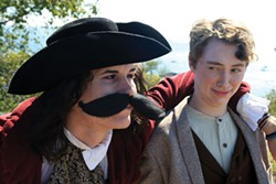 COURTESY OF HSU THEATRE AND DANCE - Maude Jaeb as the nefarious Captain Stache and Benny Allen as Peter.