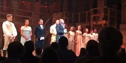 FACEBOOK - The cast of Hamilton speaking to Mike Pence.