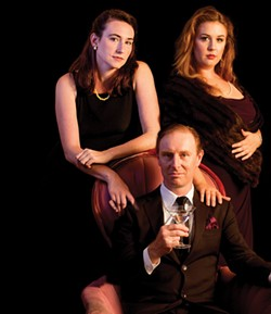 COURTESY OF NORTH COAST REPERTORY THEATRE - Bayley Brown, Montel Vander Horck III and Caroline McFarland in The Hollow.