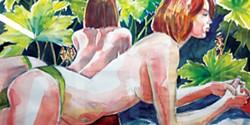 COURTESY OF THE ARTIST - Joyce Jonté's untitled 2016 watercolor.