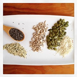 PHOTO BY SIMONA CARINI - Seed cracker ingredients.