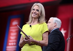 BY GAGE SKIDMORE, CC BY-SA 3.0, HTTPS://COMMONS.WIKIMEDIA.ORG/W/INDEX.PHP?CURID=52227400 - Kellyann Conway at the 2015 Conservative Political Action Conference (CPAC)