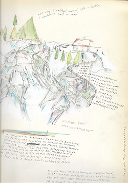 COURTESY OF THE ARTIST - One of Molly Schaeffer's open letters in pen and ink.