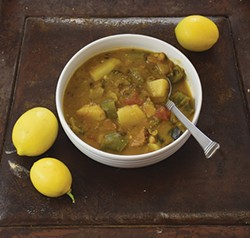 PHOTO BY HOLLY HARVEY - Iranian three-bean soup to chase away the gloom.