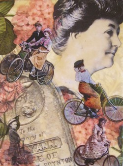 "GIGI FLOYD - ""A Good Long Ride,"" beeswax collage."