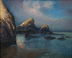 """Camel Rock According to Claude Monet,"" painting by Marvin Trump."