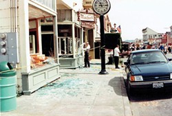 COURTESY OF THE FERNDALE MUSEUM - Storefronts along Main Street in Ferndale were shattered in the 1992 quake.
