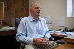 PHOTO BY MARK MCKENNA - Humboldt County Public Defender David Marcus in his sparsely decorated Eureka office.