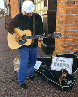 SUBMITTED - Leatherman and Boots serenading passerbys in Eureka's Old Town.
