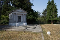 PHOTO BY ERIC MUELLER - The Buhne family mausoleum.