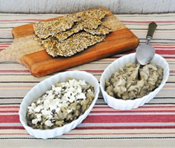 PHOTO BY SIMONA CARINI - Elegant dip with seed crackers.
