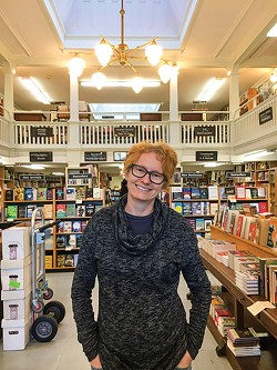 PHOTO BY JENNIFER FUMIKO CAHILL - Amy Stewart at Eureka Books.