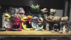 COURTESY OF HUMBOLDT STATE UNIVERSITY - Avenue Q's puppet players.