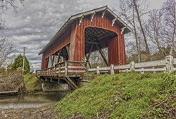 "STEVE LEMKE - ""Covered Bridge at Jacoby Creek"""