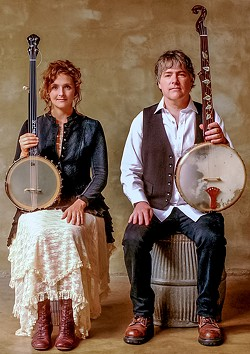 COURTESY OF THE ARTISTS - Bela Fleck (right) and Abigail Washburn play the Van Duzer Theatre on Wednesday, Nov. 29 at 7 p.m.