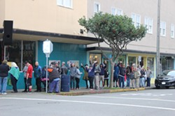 PHOTO BY THADEUS GREENSON - First day of recreational cannabis sales in Eureka.