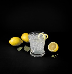 PHOTO BY JILLIAN BUTOLPH - Calm down with roasted lemon and a microdose of CBD in a vodka cocktail.